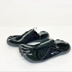Fila Men's Black Skeleton-Toes Water Shoes 13